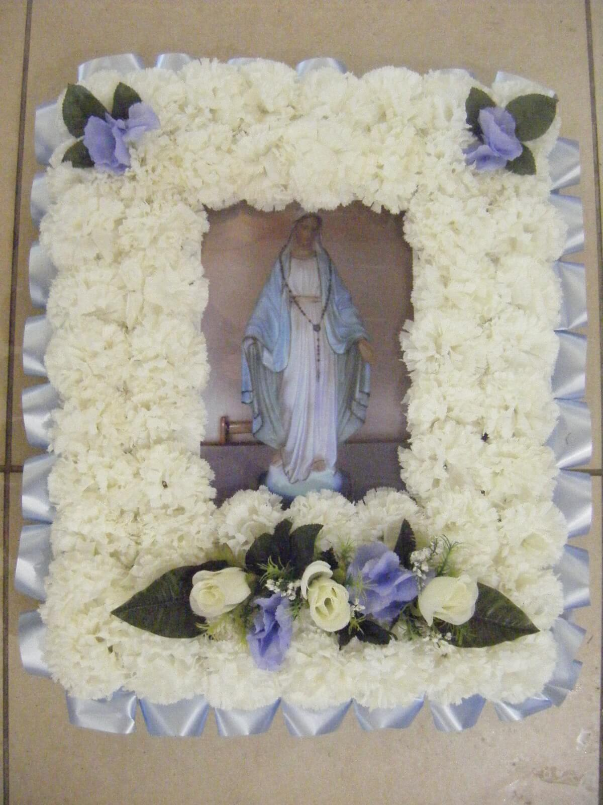 Picture Framed with Silk Flowers - All Seasons Florist